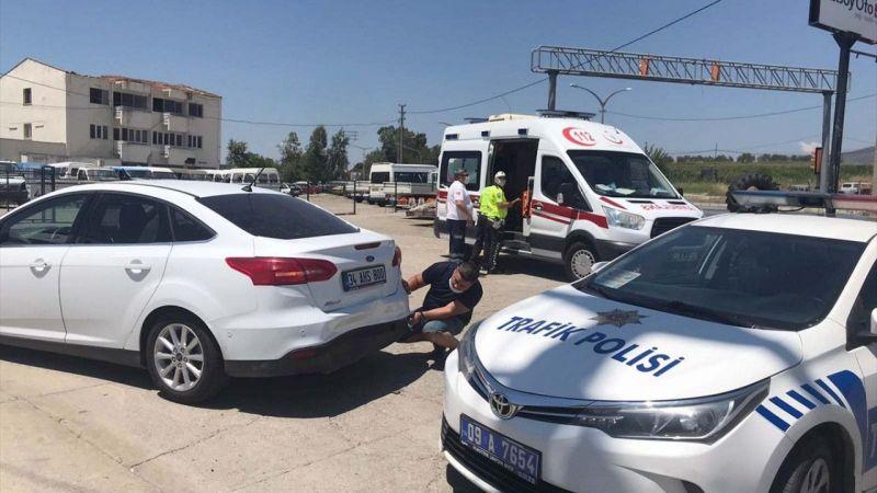 Çine'de otomobillerin çarpışması sonucu 2 kişi yaralandı
