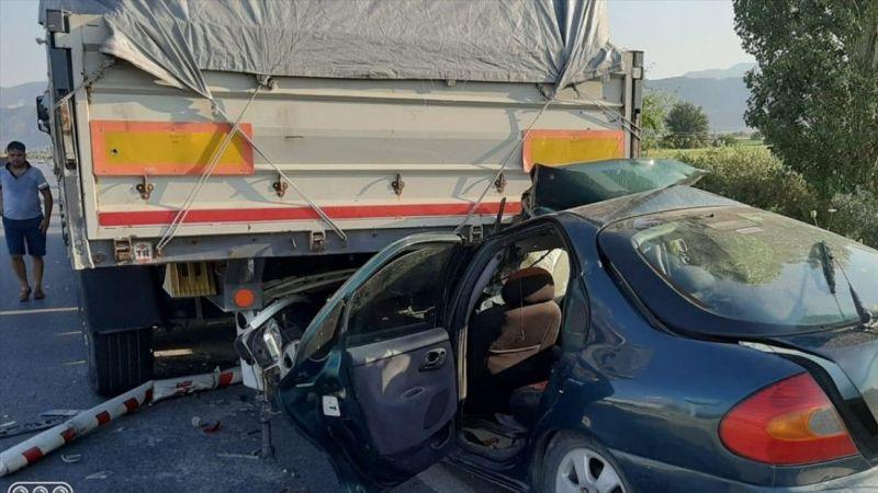 Aydın'da trafik kazası: 1 ölü, 1 yaralı