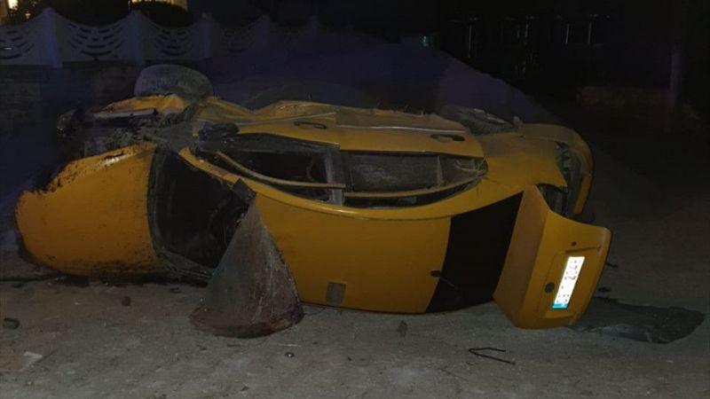 Aydın'da ticari taksi şarampole devrildi: 1 ölü