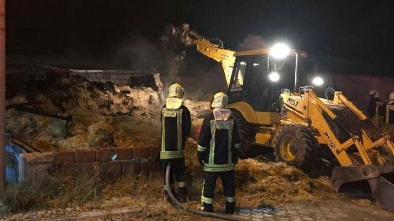 Denizli'de besihanede çıkan yangında 40 büyükbaş telef oldu