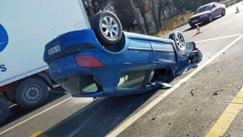 Aydın'da iki otomobil çarpıştı: 2 yaralı