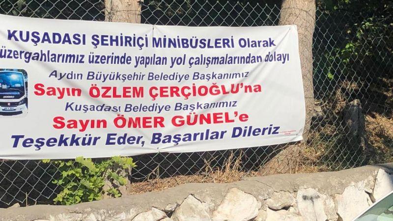Minibüs şoförlerinden Başkan Çerçioğlu ve Başkan Günel'e teşekkür