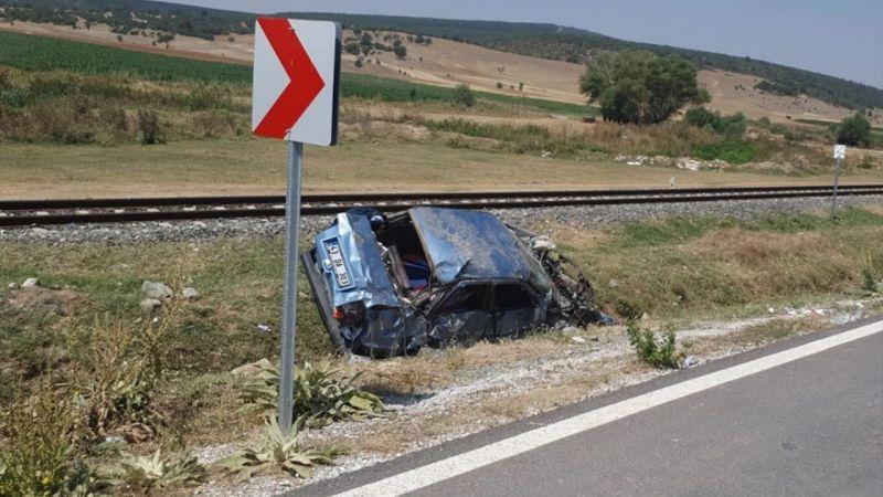 Kütahya'da otomobil devrildi: 6 yaralı