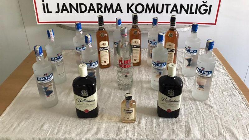 Uşak'ta kaçak içki operasyonu