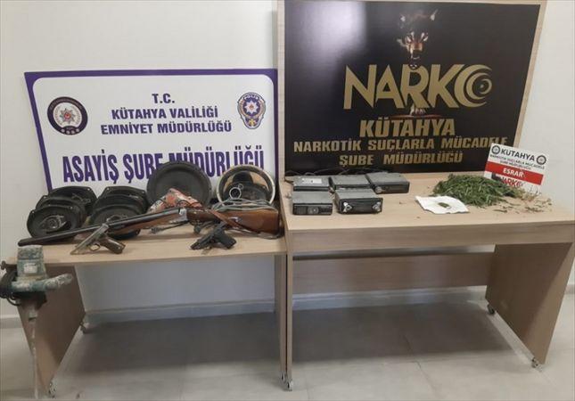 Kütahya'da aranan 9 şüpheli yakalandı