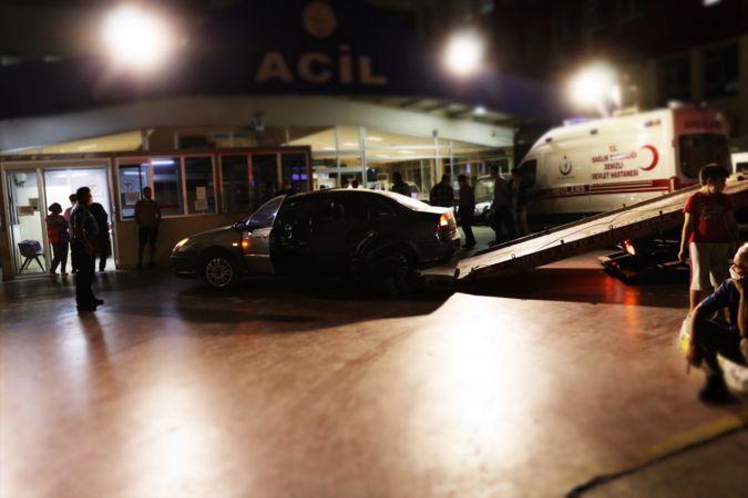 Denizli'de silahla yaralanan bir kişi kendi kullandığı otomobiliyle hastaneye gitti