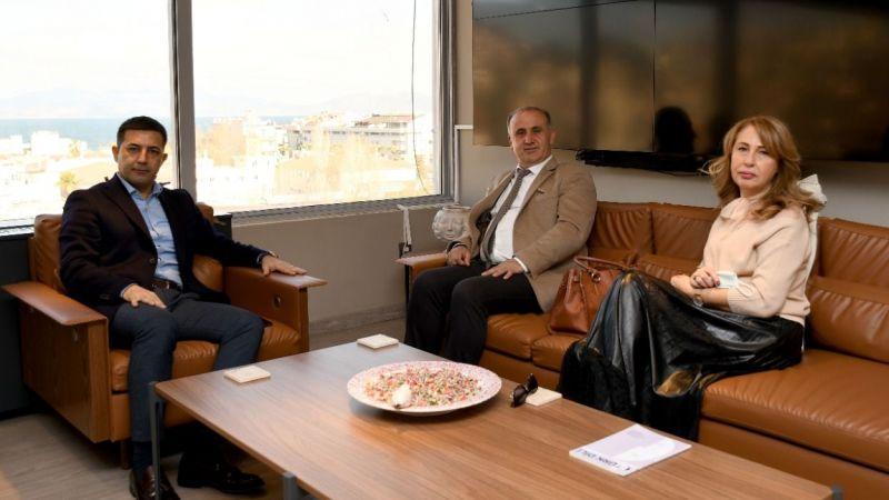 İncirliova Belediye Başkanı Aytekin Kaya'dan Başkan Ömer Günel'e ziyaret
