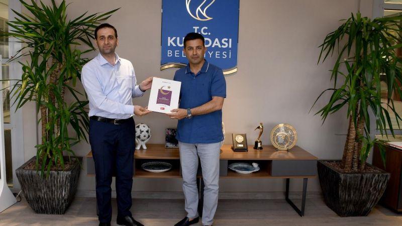 Basın İlan Kurumu Müdürü Nuri Gülen'den Başkan Ömer Günel'e teşekkür