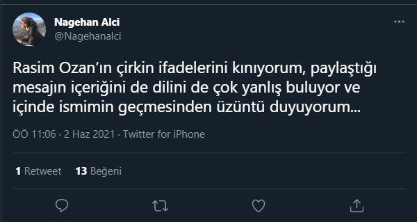Twitter'da kapıştılar: Nagehan Alçı Rasim Ozan Kütahyalı'ya sert çıktı!
