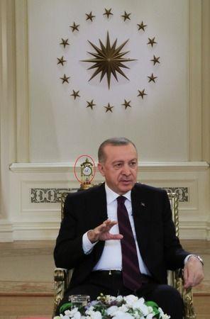 Erdoğan'ın arkasında duran antika saatin sırrı çözüldü