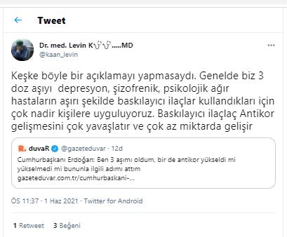 Erdoğan'ın '3. doz aşımı oldum' açıklaması sosyal medyayı ayağa kaldırdı