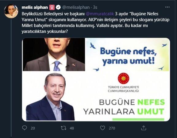Fahrettin Altun'un büyük hatası: AKP'nin sloganı CHP'li belediyeden çalıntı çıktı!
