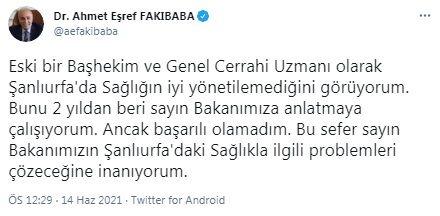 AKP'li Eşref Fakıbaba'dan Fahrettin Koca'ya şok tepki: 2 yıldır anlatamadım...