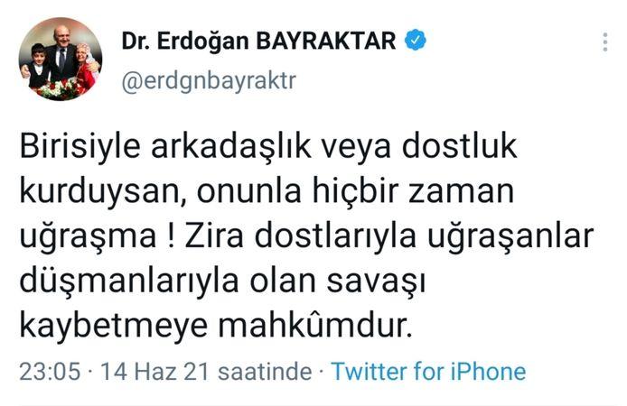 AKP'li eski bakandan olay yaratan mesaj: Erdoğan'ı mı hedef aldı?