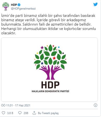 Son Dakika: HDP İzmir il binasına saldırı