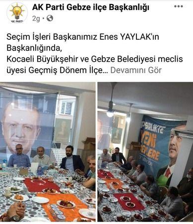AKP'lilerin toplantısında Türk bayrağı sofra bezi yapıldı!
