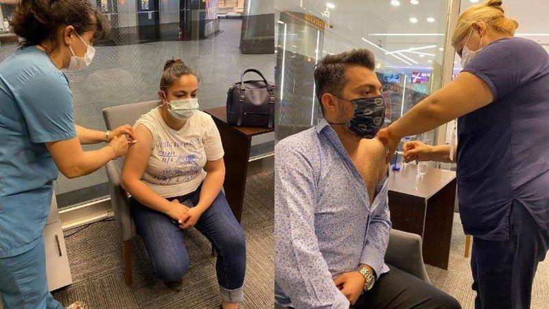 AVM'lerde koronavirüs aşısı uygulaması başladı