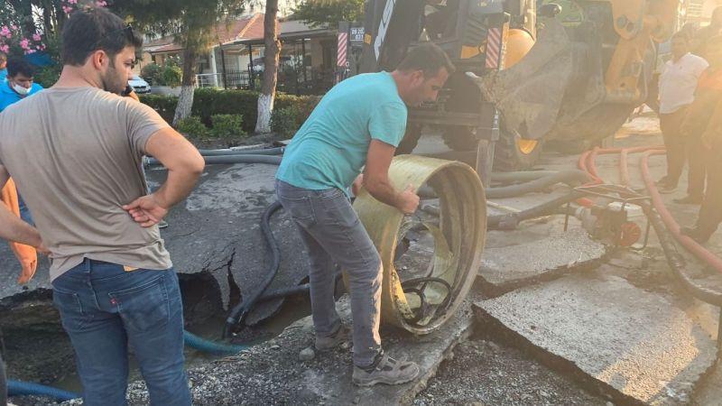 Aydın Büyükşehir Belediyesi'nden Kuşadası'ndaki arızaya anında müdahale