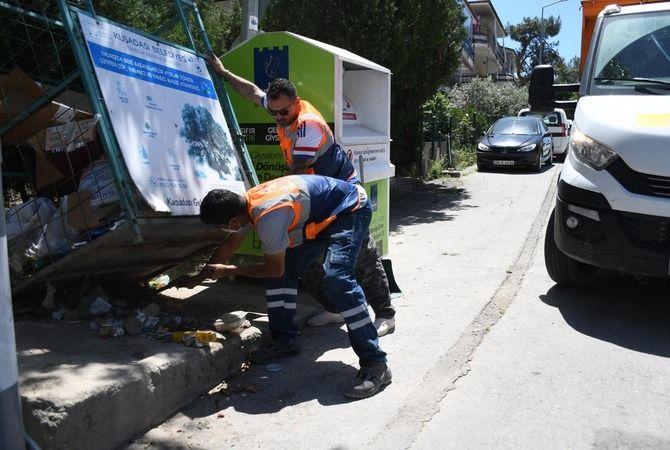 Kuşadası Belediyesi'nin bayram temizliği bilançosu: 4 bin 60 ton çöp