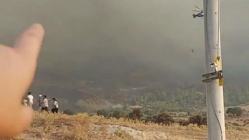 Muğla'daki yangın Aydın'a sıçradı