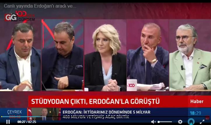 Canlı yayın karıştı, tartışma sırasında Erdoğan aradı!