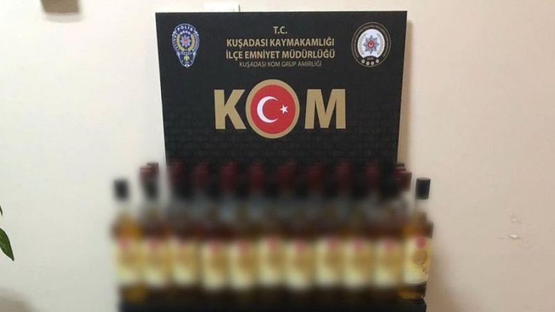Kuşadası'nda kaçak içki operasyonu: 1 kişi gözaltına alındı