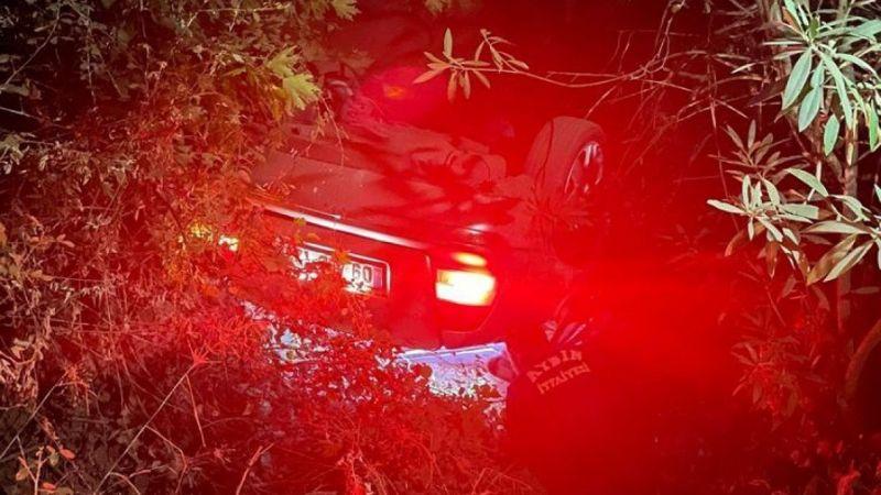 Aydın'da otomobil dereye uçtu: 2 yaralı