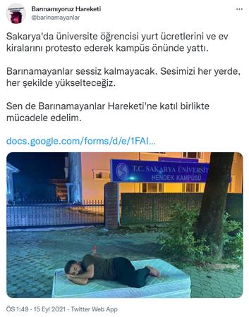 Ev sahipleri, bu protesto size!