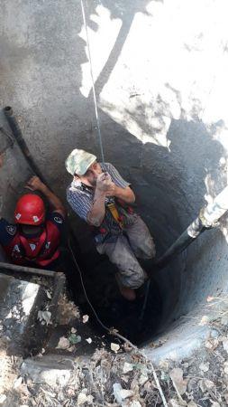 Aydın'da kuyuya düşen kişiyi itfaiye kurtardı