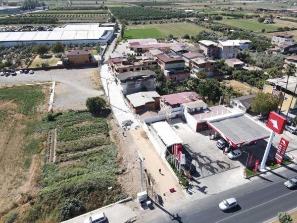 Dallıca'da yol yapım çalışmaları tamamlandı