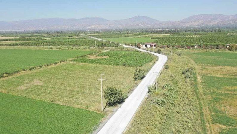 Büyükşehir'in çalışması ile Pirlibey-Hamzallı yolu güvenli hale geldi