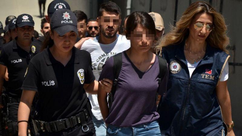 Adana merkezli terör operasyonu zanlıları adliyeye sevk edildi