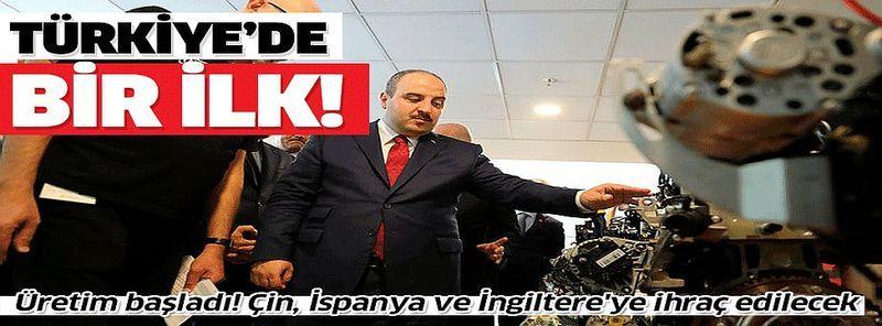 Türkiye'de bir ilk! Bakan Varank açıkladı: Üretim başladı.Türkiye'de bir ilk! Bakan Varank açıkladı: Üretim başladı.