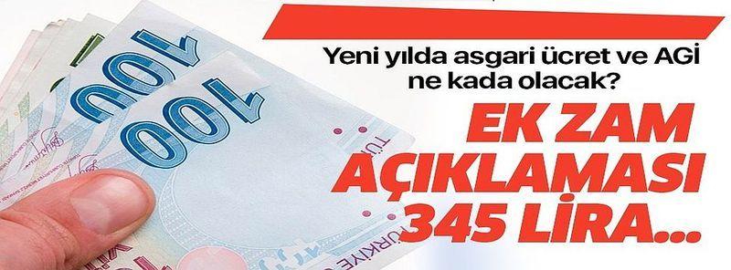 Yeni yılda AGİ zammı ve asgari ücret kaç para olacak? .