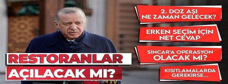 Kafe ve restoranlar açılacak mı? Başkan Erdoğan kritik toplantıyı işaret etti