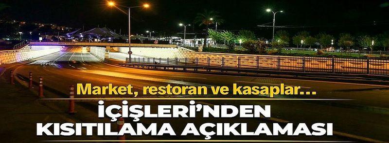 İçişleri Bakanlığı'ndan flaş 'sokak kısıtlaması' açıklaması!