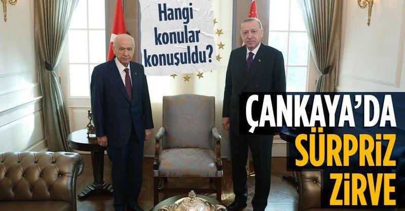 Başkan Erdoğan ile MHP Genel Başkanı Bahçeli arasında sürpriz görüşme!