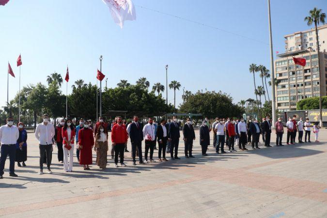 Mersin'de 19 Mayıs sade bir törenle kutlandı
