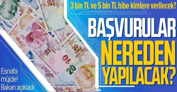Ticaret Bakanı Mehmet Muş açıkladı! Esnafa hibe başvuruları nereden yapılacak?