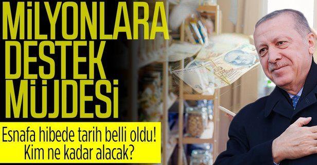 Başkan Erdoğan'ın açıkladığı esnafa hibe başvuruları salı günü başlıyor! Hangi meslekler yararlanacak?