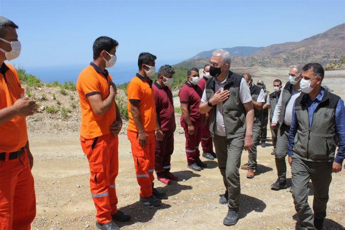 Orman Genel Müdürü Karacabey Mersin'de incelemelerde bulundu