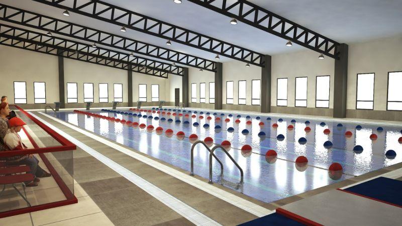 Kışla Yarı Olimpik Yüzme Havuzu inşaatı sürüyor