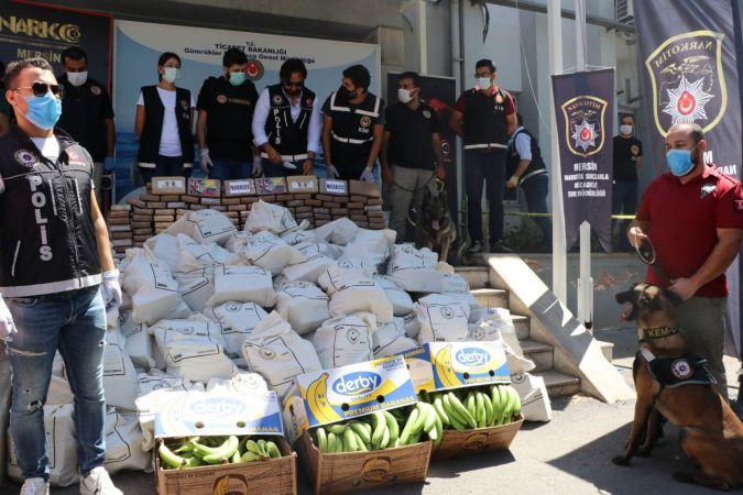 Mersin'de ele geçirilen kokainin miktarı 1 ton 300 kiloya yükseldi