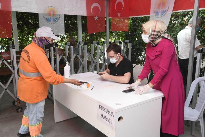 Belediye çalışanlarına Covid-19 aşısı