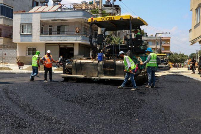 Büyükşehir Belediyesinin yol çalışmaları sürüyor
