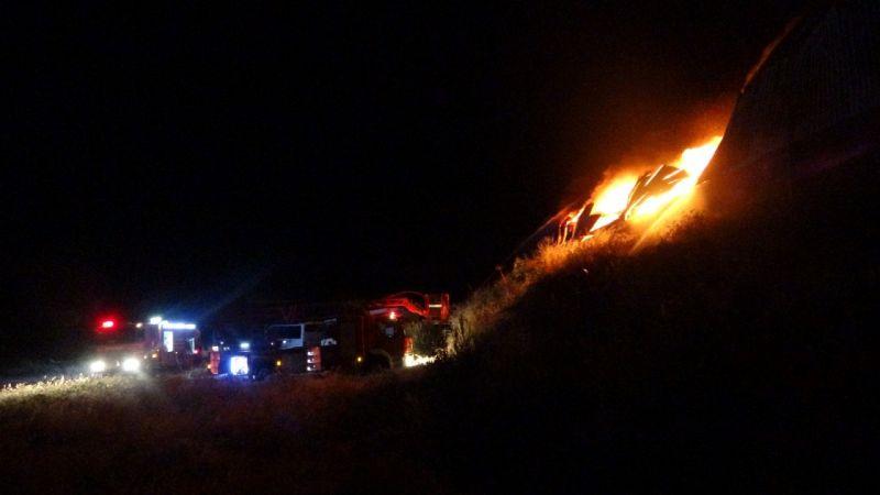 Kozan'da geri dönüşüm tesisinde yangın