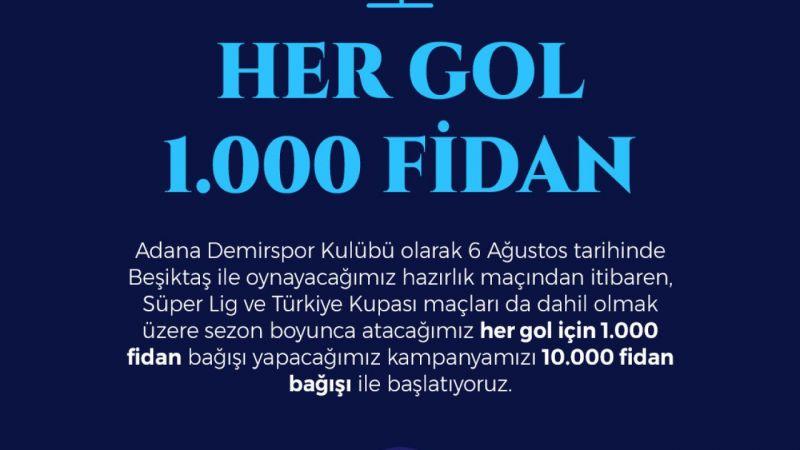 Adana Demirspor attığı her gole 1000 fidan bağışlayacak