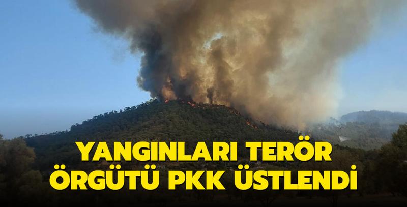 Türkiye'deki orman yangınlarını PKK'nın 'Ateşin çocukları İnisiyatifi' üstlendi