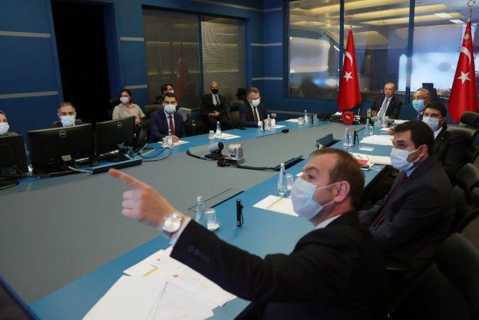 Cumhurbaşkanı Erdoğan, yangınlarla ilgili son bilgileri aldı