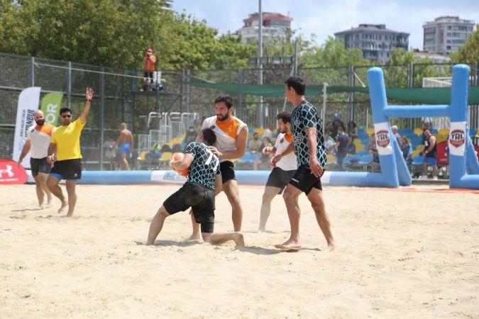Kadıköy'de Uluslararası İstanbul Plaj Ragbi Lig Turnuvası sonuçlandı